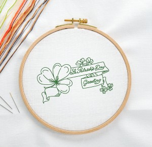 Free Printable Embroidery Pattern St. Patrick's Day