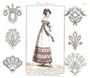 Vintage French Embroidery Patterns and Fashion Illustration