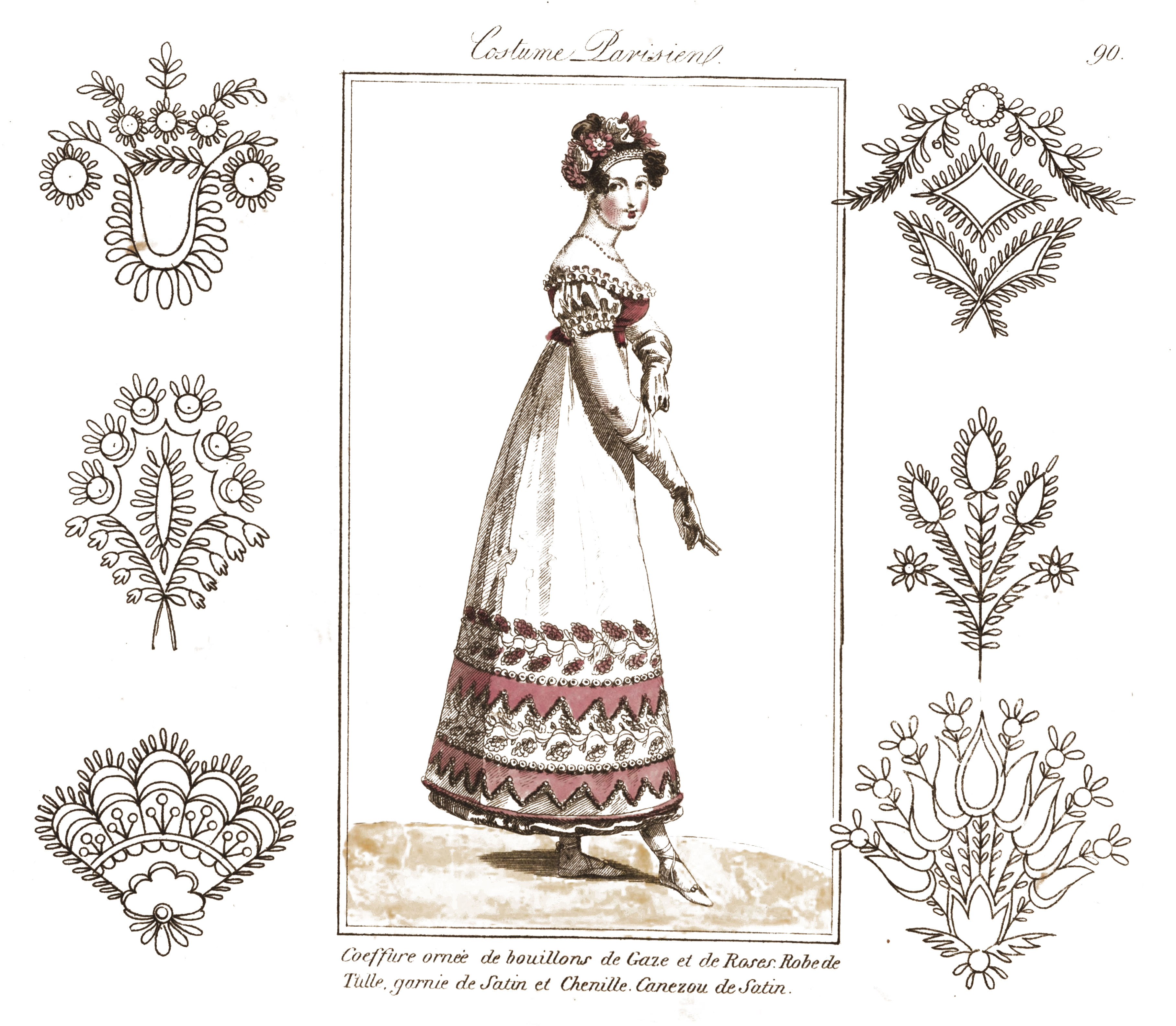 More vintage embroidery patterns with fashion