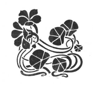 Vintage Art Nouveau Floral Ornament