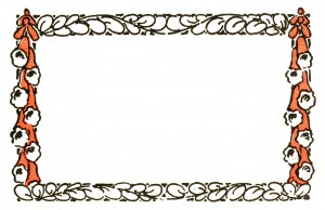 Vintage Art Nouveau Frame Illustration