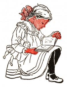 Vintage Child Illustration Clip Art