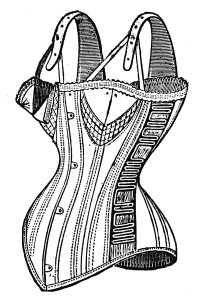 Vintage Corset Illustration