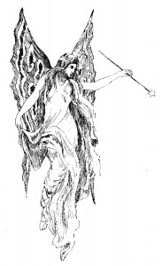Vintage Fairy Illustration Clip Art