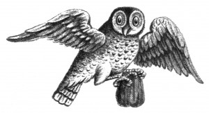 Vintage Illustration, Owl Clip Art