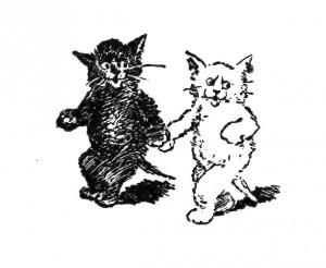 Vintage Kittens Clip Art