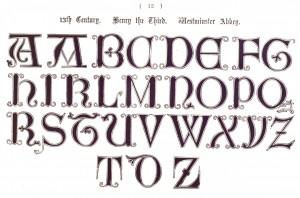 Vintage Typography - Ornamental Lettering