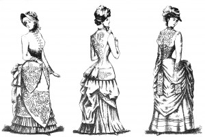 Vintage Victorian Fashion Illustration
