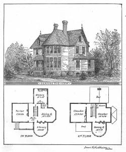 Vintage Illustration - Victorian Floor Plan