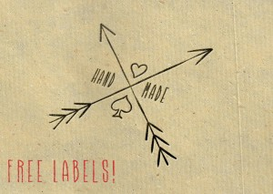 "Free Hipster Style ""Hand Made"" Labels Printable Clip Art"