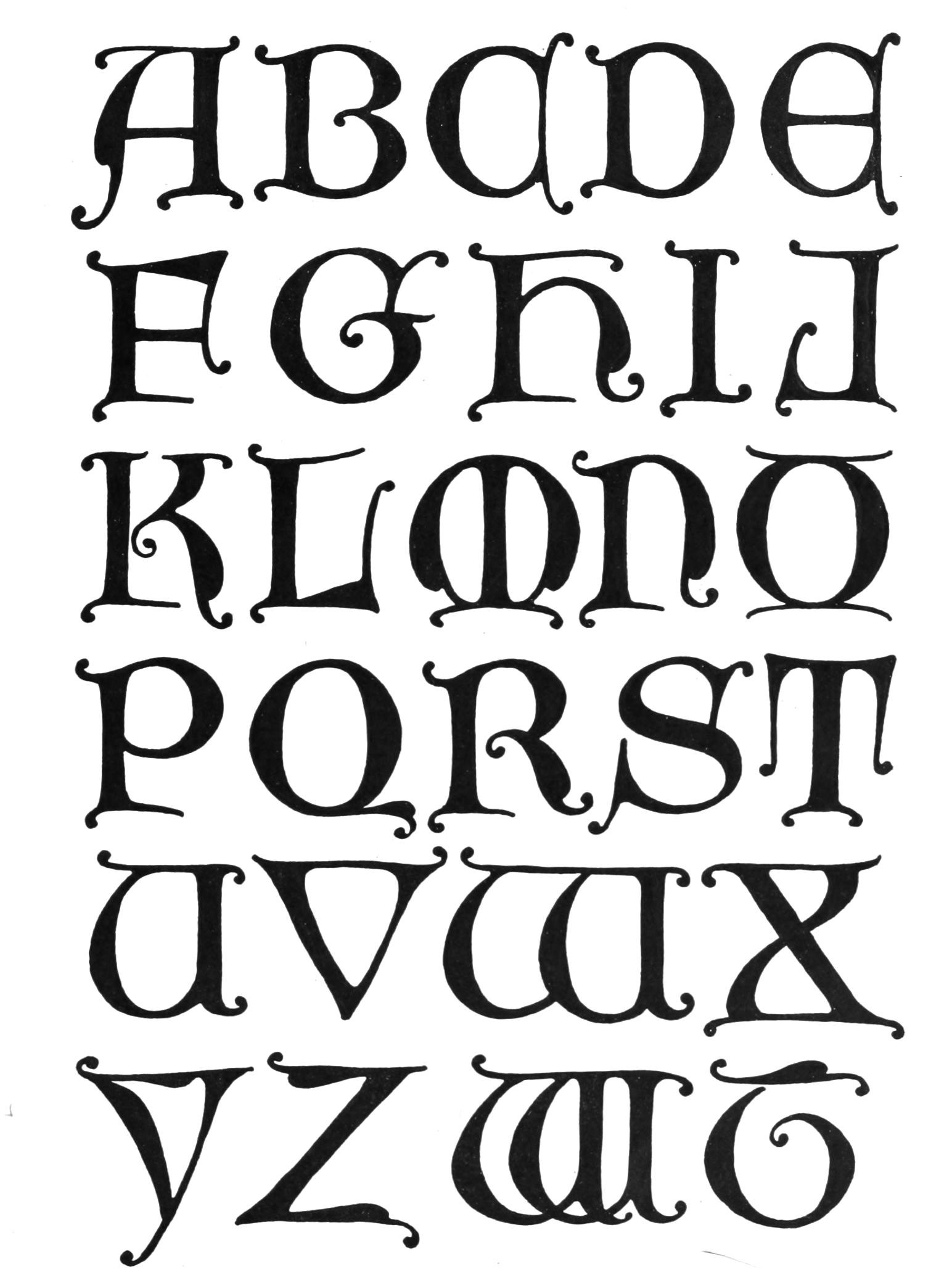 vintage lettering alphabet typography