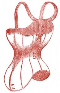 Vintage Clip Art Corset Illustration