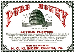Vintage Clip Art - Honey Label