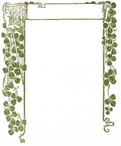 Vintage Illustration - Clover Frame