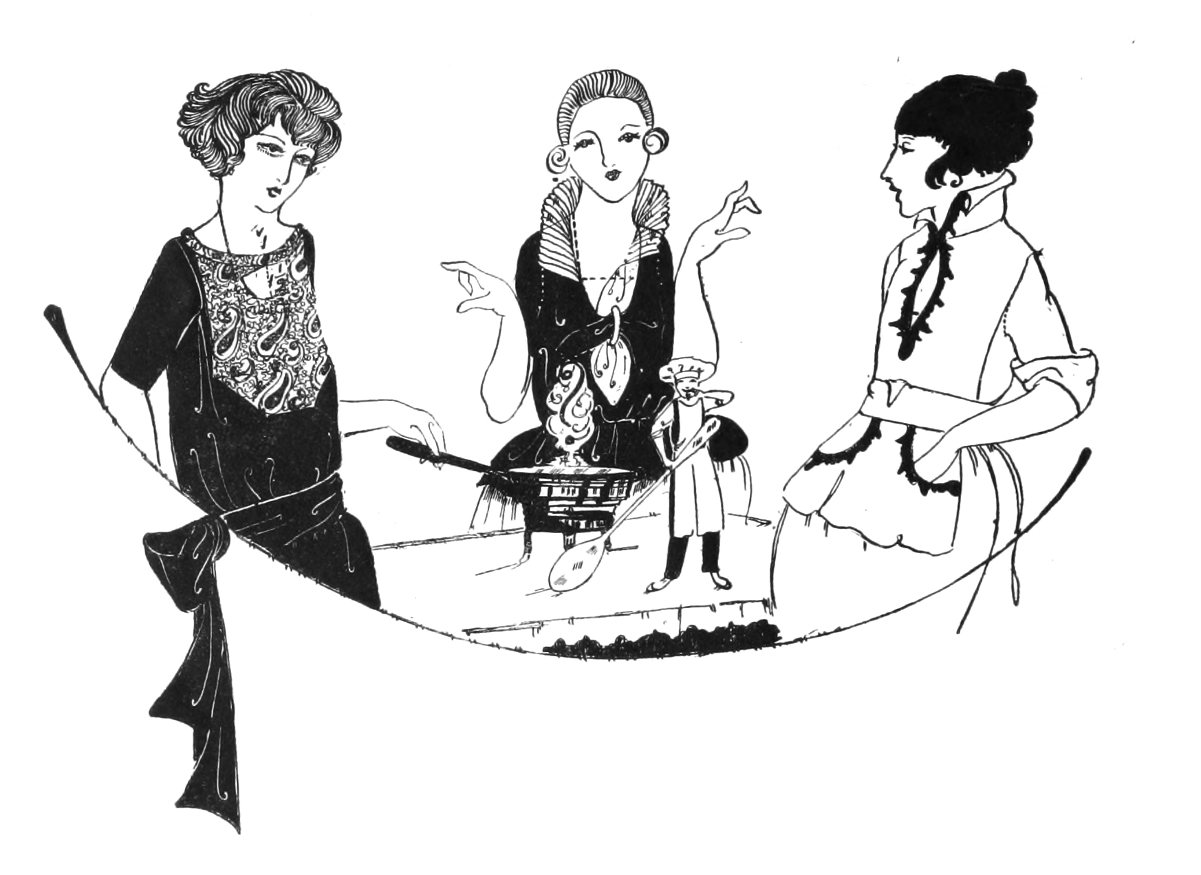 Free coloring pages of art deco ladies for Art deco illustration