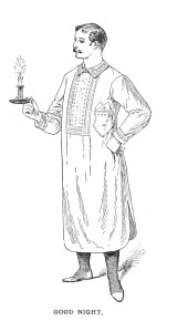 Vintage Illustration - Man in Pajamas