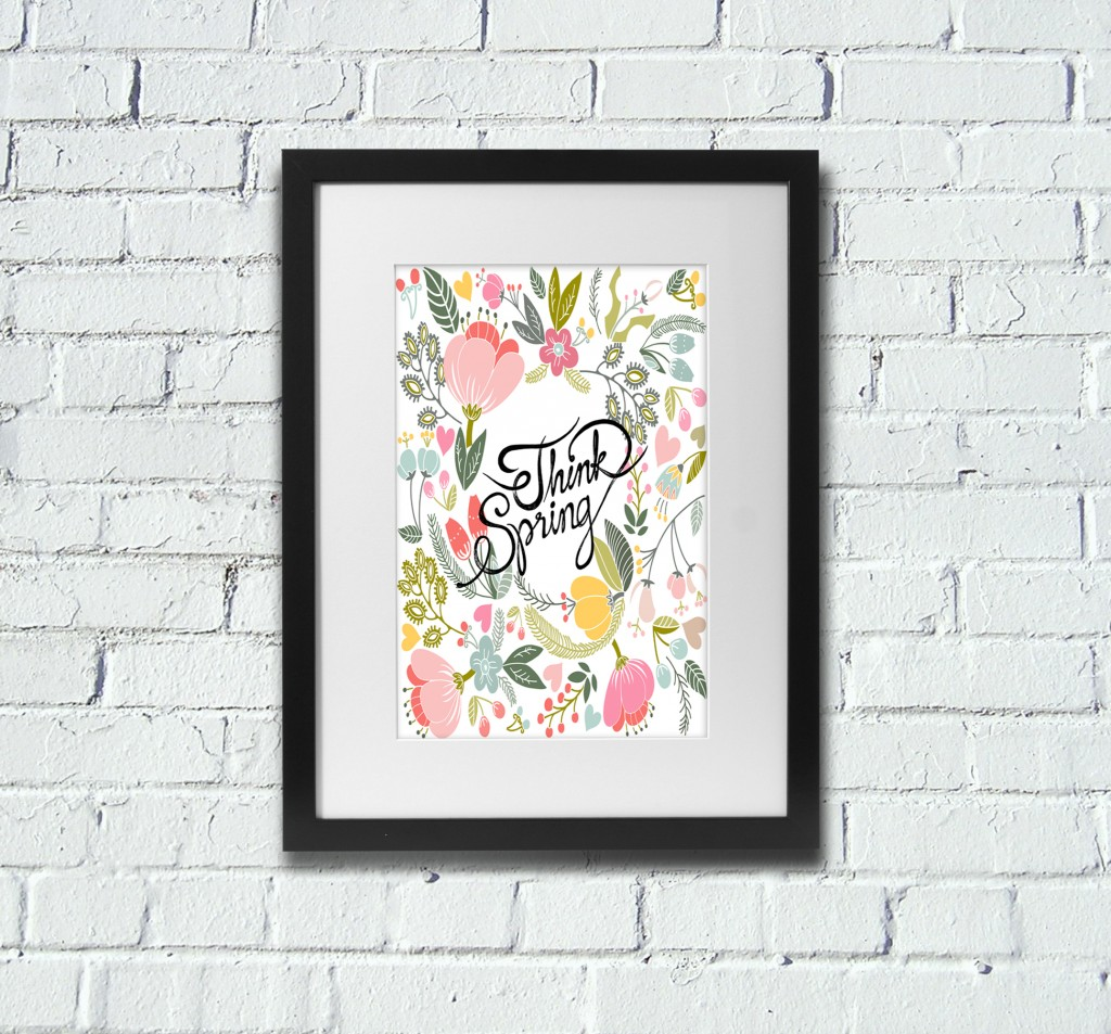 Free Printable Wall Art Spring Poster