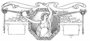 Free Vintage Clip Art Art Nouveau Ornament