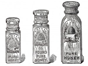 Free Vintage Clip Art Glass Honey Jar Illustrations