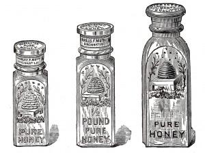 Free Vintage Clip Art Glass Honey Jar Illustrations