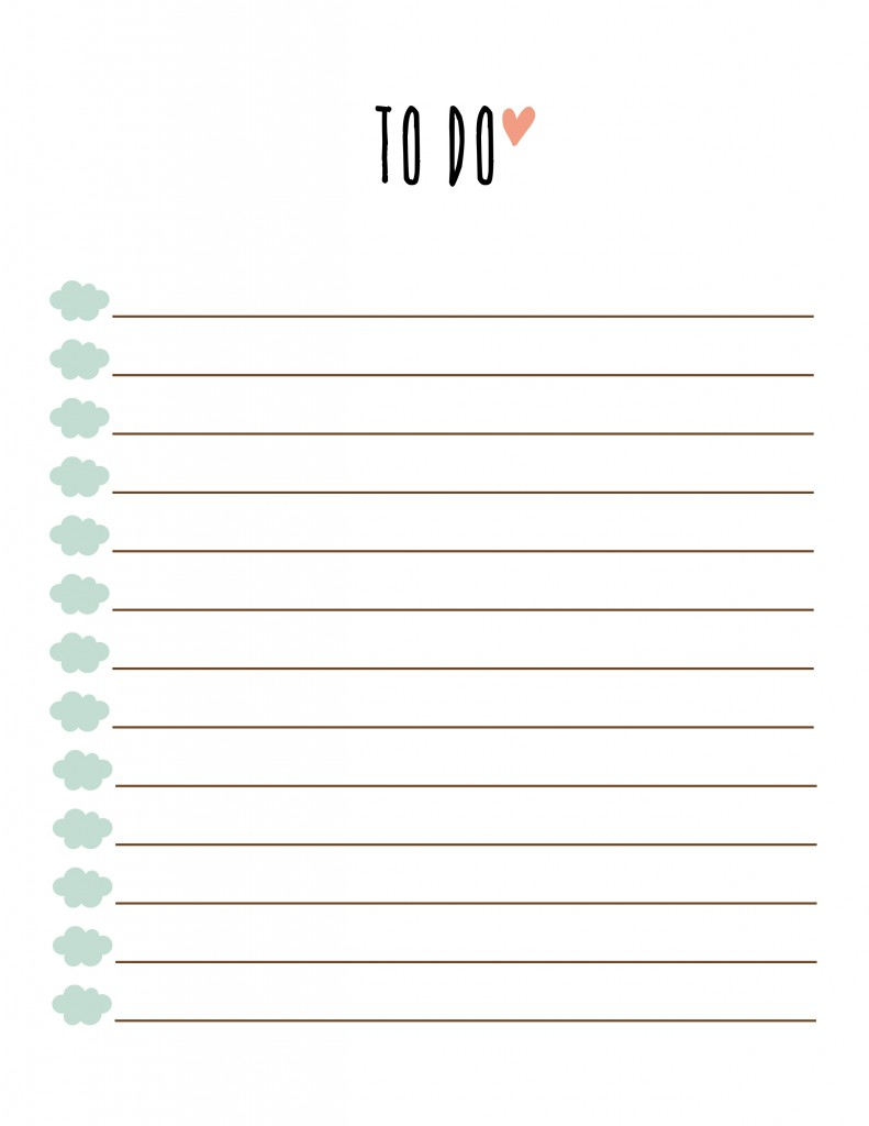 adorable free printable to do list. Download the PDF below, Enjoy ...