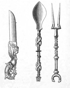 Vintage Silverware Graphics - Spoon, Fork, and Knife