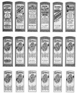 Free Sheet of Vintage Druggist Labels