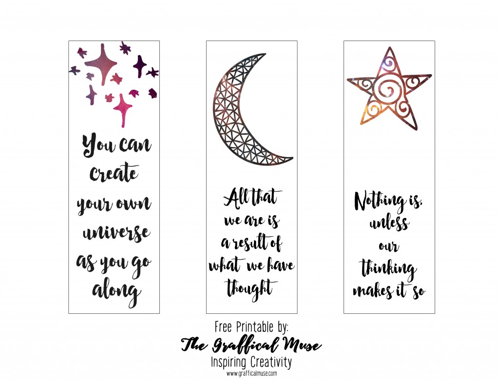 free printable law of attraction bookmarks - the graffical muse