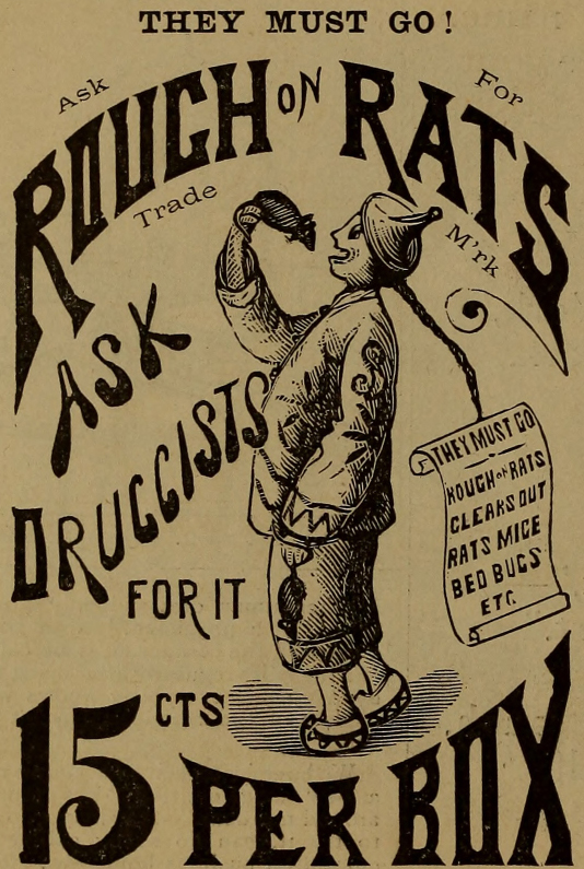 Free Printable Vintage Advertisements Rat Poison
