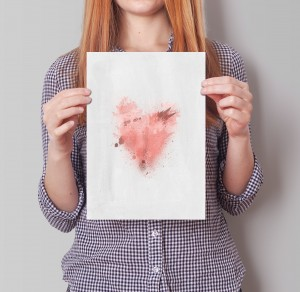 Free Printable Valentine's Day Heart Wall Art