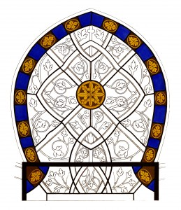 Vintage Illustration - Stained Glass