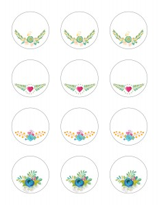 Free Printable Stickers Floral Labels