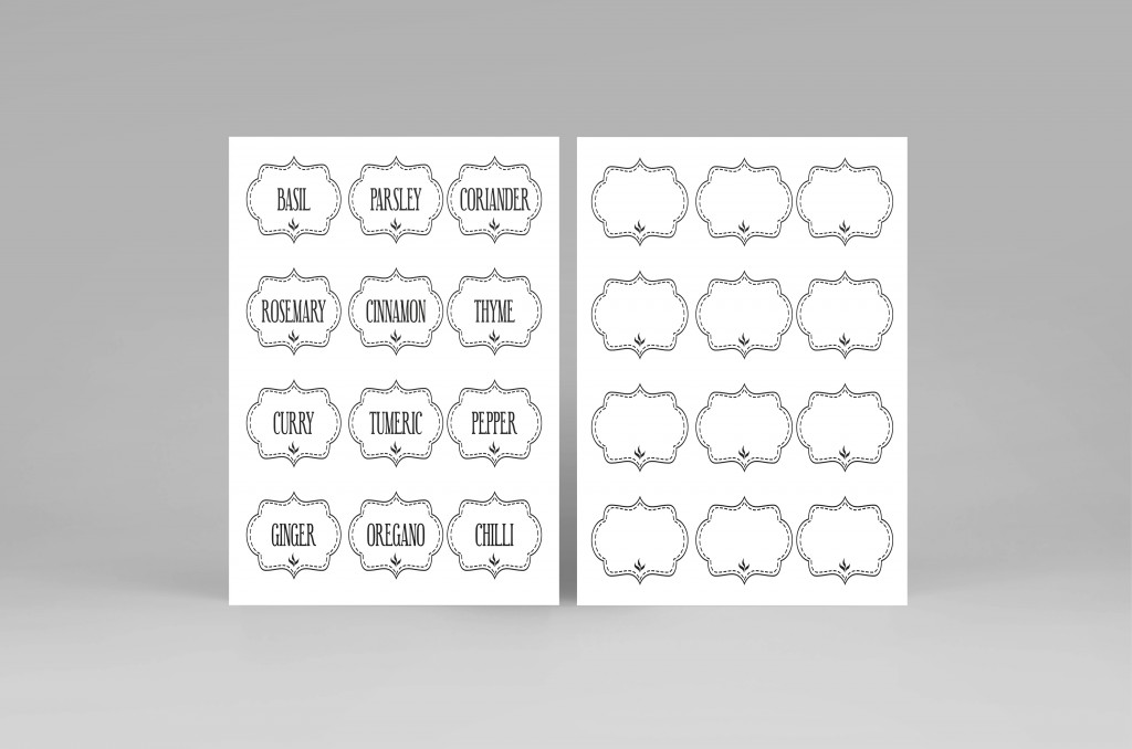 Free Printable Kitchen Spice Labels