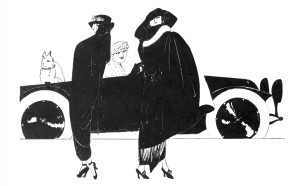 Vintage Art Deco Fashion Illustration