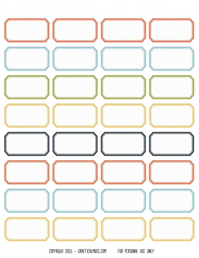 Free Printable Vintage Style Label Stickers